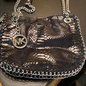 Leather python print Michael Kors handbag